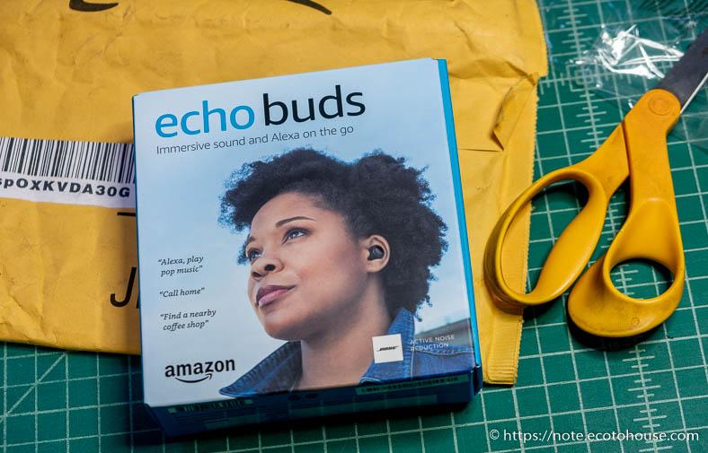 Amazonのワイヤレスイヤホン、Echo Buds開封の儀:外箱