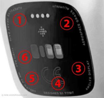 次世代fitbit versa 2 リーク製品画像とfitbit versa(背面パネルの文字)